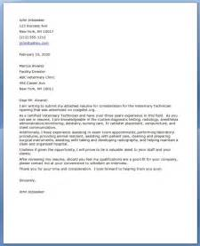 Cover Letter For Veterinarian by Vet Tech Cover Letter Resume Downloads
