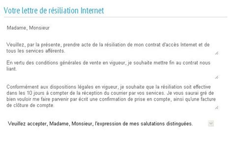 Free Exemple De Lettre De Resiliation Modele Lettre Resiliation Operateur Document