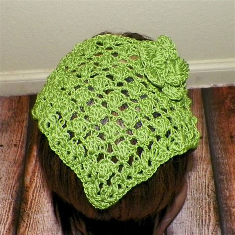 free pattern for triangle head scarf sale hair bandana green hippie kerchief cotton triangle