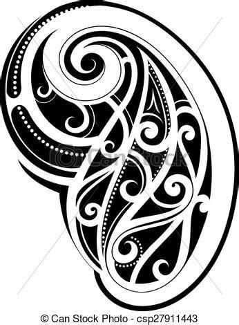 vecteur eps de tatouage style maori arm tatouage