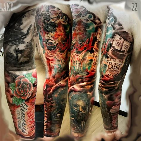 colour sleeve tattoo designs 30 great sleeve tattoos by maksims zotovs