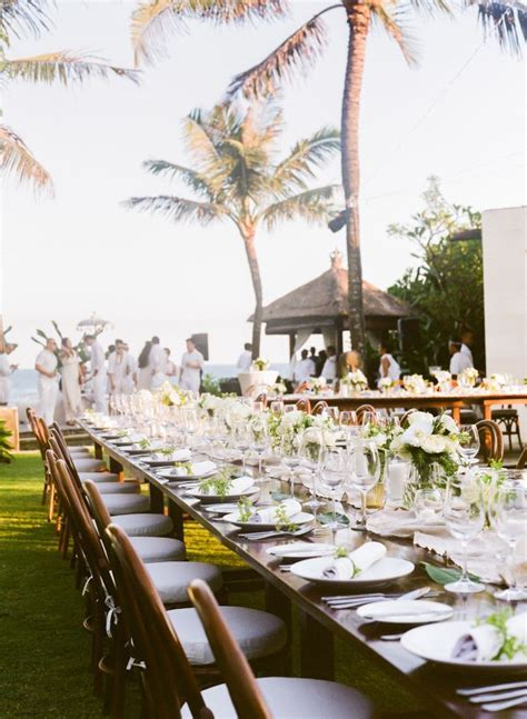 Romantic   Elegant Bali Wedding in 2019   Wedding Tables