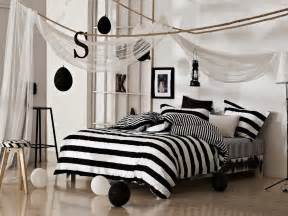 black and white classical stripe bedding set new arrival