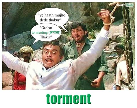 Meme Definition English - torment meaning in hindi with picture dictionary
