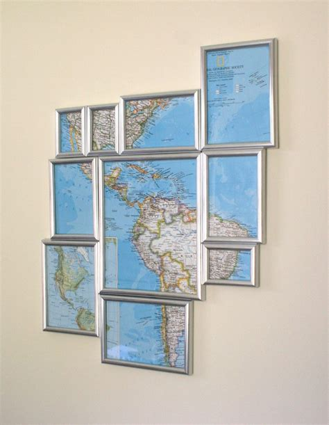 how to hang a map without a frame buy a frame grouping set cut map frame map hang wall