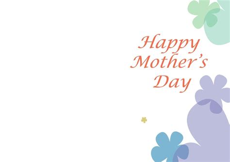 Mothersday Card Template by 21 Best Images About Seasonal On