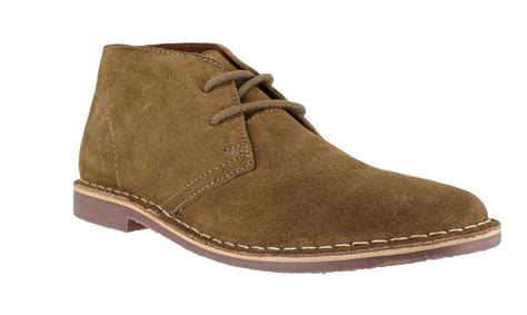 mens gobi genuine suede lace up casual desert