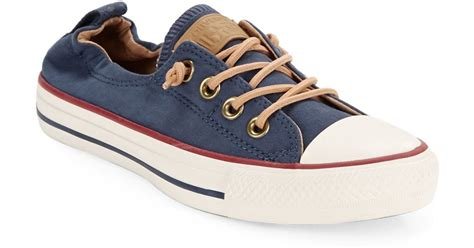 blue and sneakers converse lace up sneakers in blue for lyst