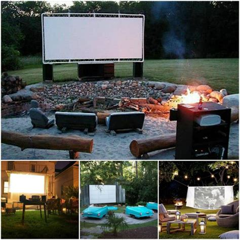 Backyard Theater Ideas Diy Backyard Theater Outdoor Furniture Design And Ideas