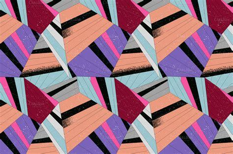 creative patterns using geometric shapes colorful geometric pattern set patterns on creative market