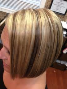 brown highlited bob haircuts bob with highlights and lowlights short hairstyle 2013