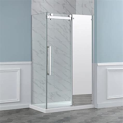 Ove Shower Door Shop Ove Decors Harvard 48 In Corner Chrome Sliding Mirror Shower Door At Lowes