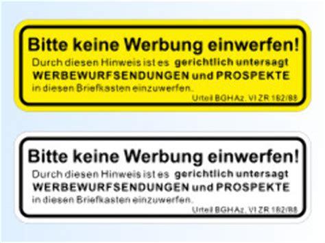 Aufkleber Keine Werbung Englisch by Briefkastenaufkleber Quot Keine Werbung Quot Bestellen