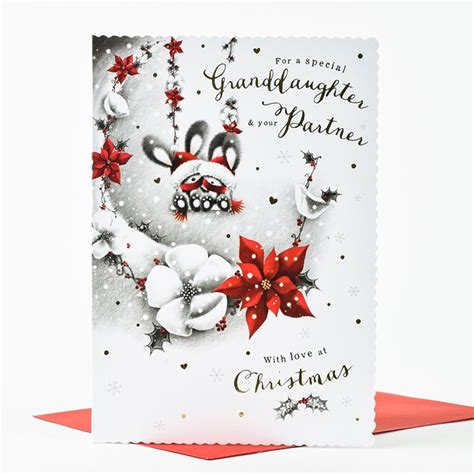 printable christmas cards for granddaughter christmas card special granddaughter partner only 99p