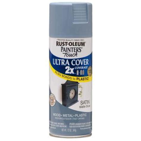 home depot spray paint blue rust oleum painter s touch 2x 12 oz satin slate blue