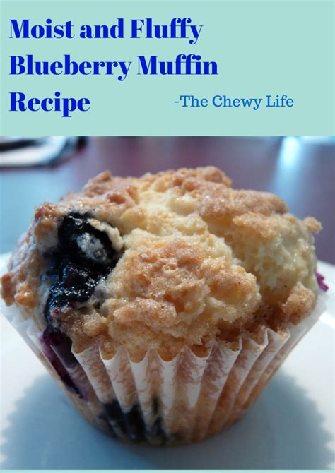 Pluffy Blueberry moist and fluffy blueberry muffins the chewy