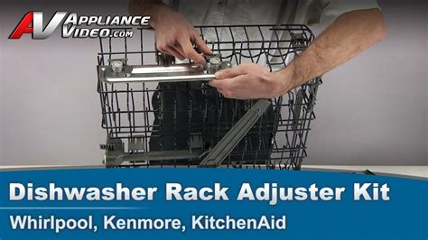 whirlpool kenmore kitchenaid dishwasher rack adjustment