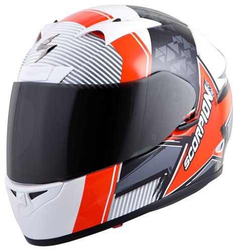 scorpion motocross helmets scorpion exor710 crystal helmet white orange jpg