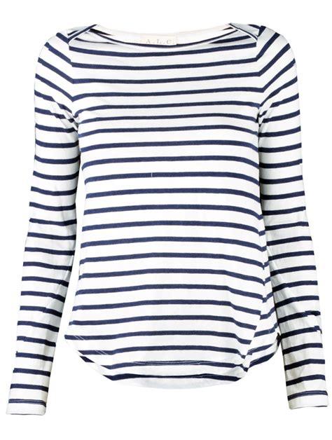 7 Striped Tops I by A L C Breton Stripe Top In White Navy Lyst