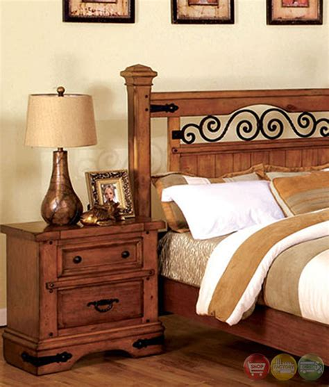 country bedroom sets sonoma country american oak poster bedroom set with rod