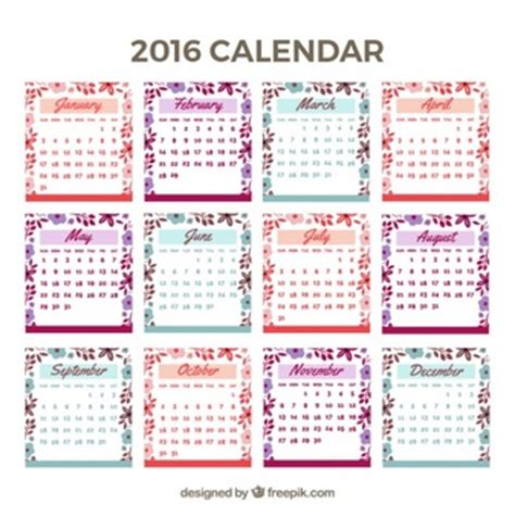 Calendrier Photoshop Calendar 2016 Vectors Photos And Psd Files Free