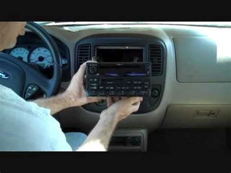 ford escape stereo removal 2001 2007 youtube