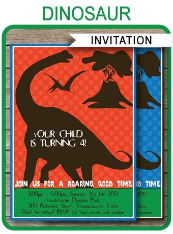 Dinosaur Birthday Party Invitations Template Dinosaur Birthday Invitation Template