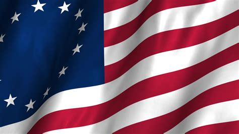 american revolution flag 1776 usa betsy ross 1776 waving flag stock video 12367514 hd