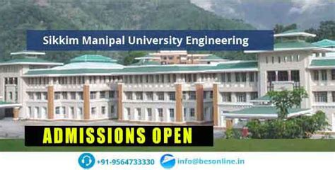 Distance Mba Course Fees In Sikkim Manipal by Sikkim Manipal Engineering Sikkim Fees