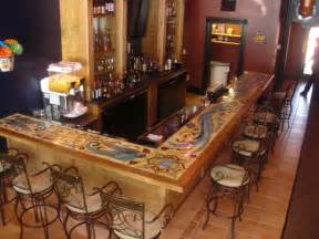 Top Bar Designs by Crafted Custom Glazed Tile Bartop By Quinn