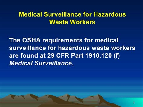 29 cfr 1910 section 120 hazwoper medical surveillance