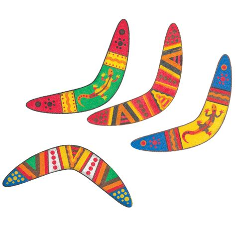 australian boomerang craft cardboard paint and boomerang