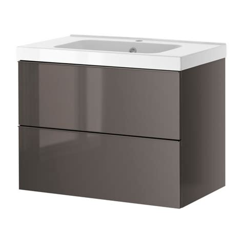 high gloss grey bathroom cabinets godmorgon odensvik sink cabinet with 2 drawers high