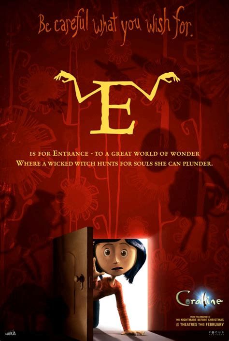 All the 'Coraline' Alphabet Movie Posters ? GeekTyrant