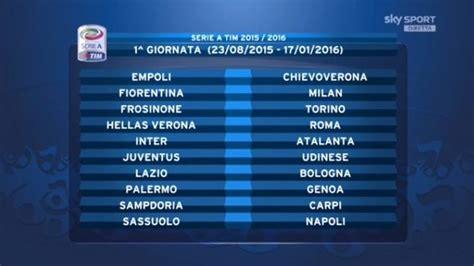 Calendario 9 Giornata Serie A Calendario Serie A 2015 2016 Tutte Le Partite Della Juventus