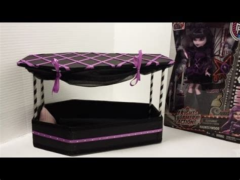how to make a elissabat bed tutorial monster high youtube