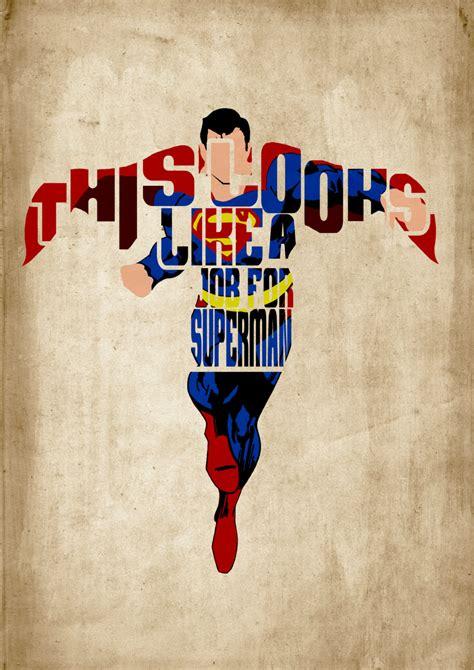 Poster A4 Batman Vs Superman Supes superman minimalist typography poster by geekspeakprints