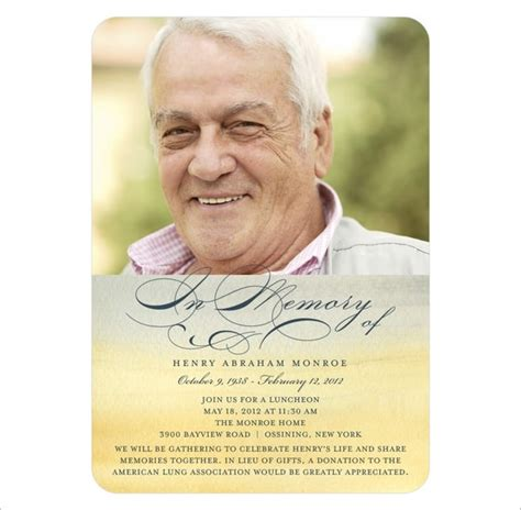 Obituary Card Template 21 obituary card templates free printable word excel