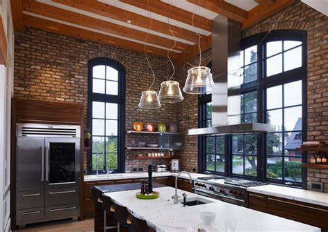 Decorating Ideas Above Kitchen Cabinets by 74 Stylish Kitchens With Brick Walls And Ceilings Digsdigs
