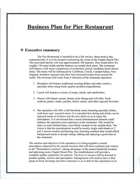 sle business plan restaurant pdf restaurant business plan 6 free templates in pdf word