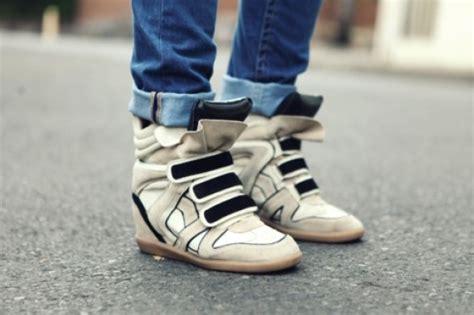scarpe con zeppa interna marant le nuove sneakers con zeppa di marant