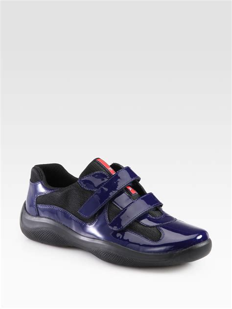 prada sneakers lyst prada sneakers in blue for
