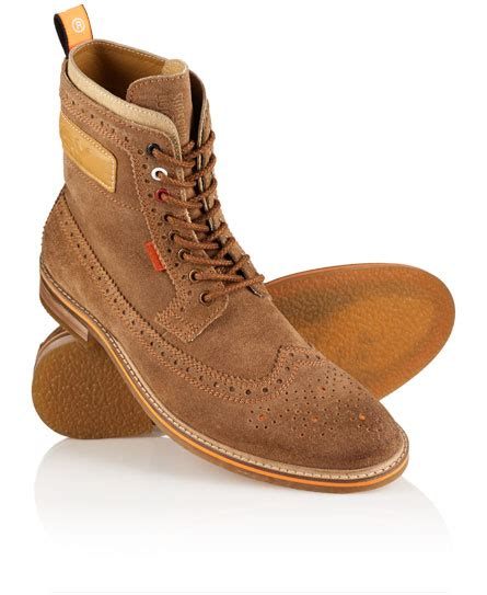 brad brogue suede crepe boots mens boots