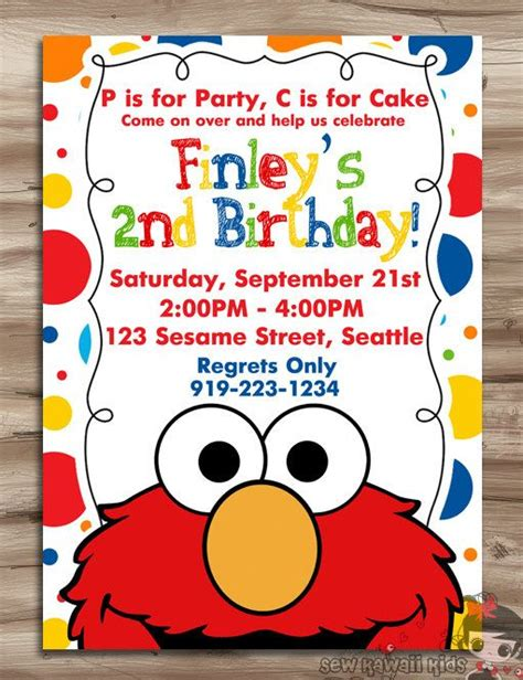 best 25 elmo invitations ideas on pinterest elmo party