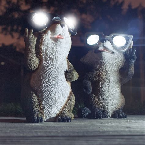 garden critter solar lights the green