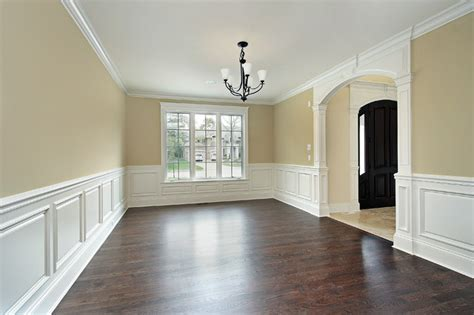 wainscoting in living room dining room with custom wainscoting traditional dining