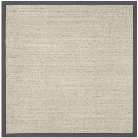 square sisal rug safavieh fiber 7 square power loomed sisal rug nf441b 7sq