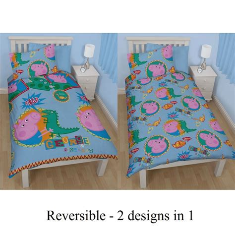 Quilt Covers Perth by George Pig Peppa Pig Single Boys Bed Doona Duvet Cover Quilt New Perth Ebay