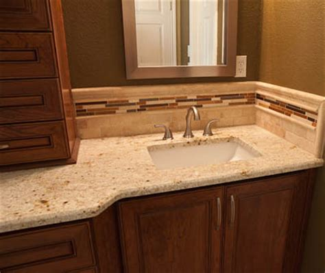 bathroom vanity tile backsplash ideas granite countertops simple color scheme not too busy