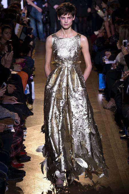 Shiny Fashion Tv Giles Deacon Gold by Lfw Autumn 2013 A Berardi V Westwood Fashion